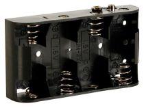 Coupleur de 4 piles c (lr14), avec contacts a pression (BH243B)