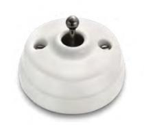 Dimbler bouton poussoir, corps en porcelaine blanche/manette laiton nickel noir (60312612)