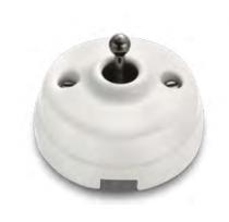 Dimbler bouton poussoir, corps en porcelaine blanche/manette laiton nickel noir avec pas de cable (60312412)
