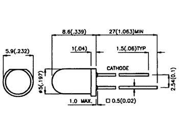 Diode infrarouge 5mm bleu-translucide 940nm (L-7113F3BT)