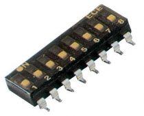 Dip switch : interrupteur cms unipolaire pouvoir de coupure : 25 ma / 24 vdcbas profil/etanche2t