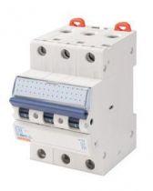 Disjoncteur magnétothermique - 3p courbe d 6a 230v 6000a (en60898) 20ka(en60947-2) / 400v 6000a (en60898) 10ka(en60947-2) - 3 mo