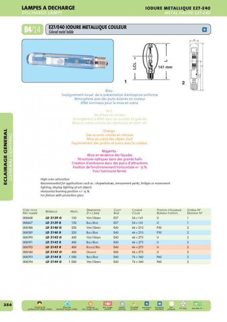 E40 46x220 250w bleu (008389)