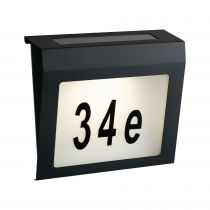 Eclairage numéro de maison Outdoor Solar IP44 3000K acier gris (94236)