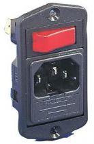 Embase polysnap verticale /2pt+t/ porte fusible interrupteur bipolaire lumineux vert
