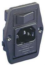 Embase polysnap verticale /2pt+t/ porte fusible interrupteur unipolaire p lumineux rouge