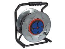 Enrouleur professionnel avec système anti-rotation - câble en néoprène - 40 m - 3g2.5 - 4 prises (ECR40NP25A-G)