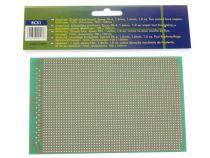 Eurocard pastille 1 trou - 100x160mm - fr4 (1pc/bl) (ECS1)