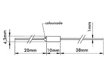 Fusible thermique 185°c / 182 +2 -4 °c / 250v - 10a (FT185)
