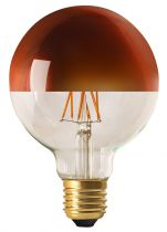 "Globe D95 Filament LED ""Calotte Bronze\"" 8W E27 2700K 950Lm Dimmable (15658) équivalent 75 watts"