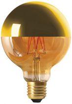 """Globe D95 Filament LED \""""Calotte Dorée\"""" 8W E27 2700K 950Lm Dimmable (15654)"""