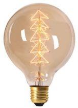 """Globe Filament Métallique \""""Sapin\"""" 40W E27 2000K 160Lm Ambrée (16002)"""