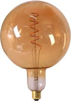 Globe G200 Filament LED TWISTED 6W E27 2000K 300Lm Dimmable Ambrée (716627)