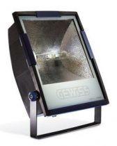 Horus 3 - avec lampe - optique symétrique extensive - 250w mt e40 230v- 50hz - ip65 - classe ii - gris fumé