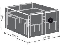HOUSSE D\'EXTÉRIEUR POUR ENSEMBLE DE JARDIN RECTANGULAIRE - S (OCGS-S)