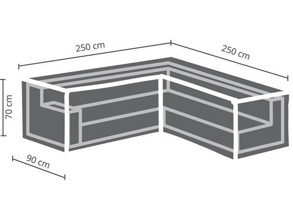 HOUSSE D\'EXTÉRIEUR POUR POUR SALON DE JARDIN EN L - 250 cm (OCLSL250)