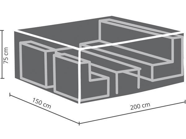 perel ocls s housse d 39 ext rieur pour salon de jardin s. Black Bedroom Furniture Sets. Home Design Ideas