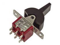 Interrupteur a levier plastique bipolaire vertical pour ci (on)-off-(on) (8018A3)