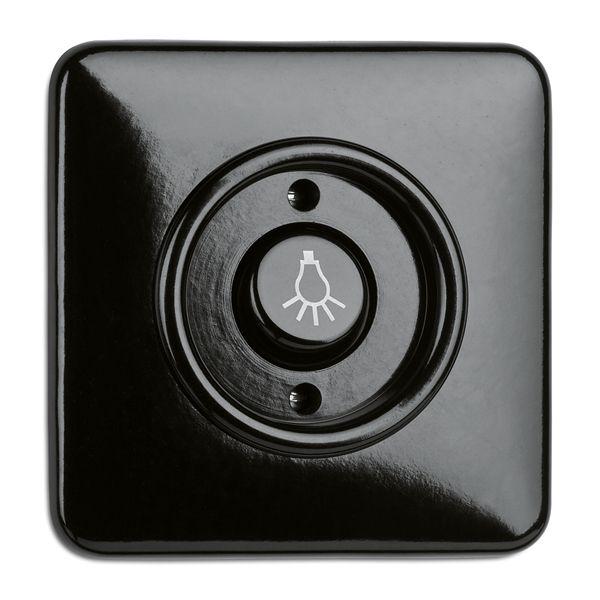 Interrupteur avec voyant bakelite noire (173055)