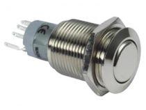 Interrupteur rond métallique spdt 1no 1nc (R1610)