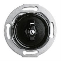 Interrupteur rotatif commande pour volet roulant avec corps central bakelite noire pour cache en verre (100648)