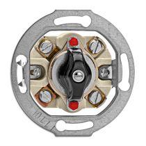 Interrupteur rotatif commande pour volet roulant bakelite noire pour cache en verre (100644)