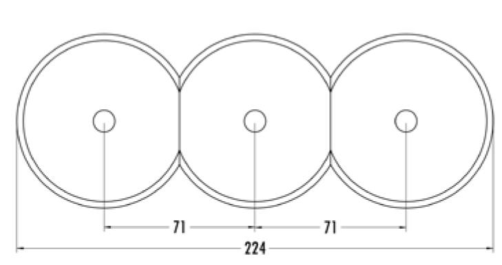 Interrupteur rotatif commutateur en croix bakelite blanche pour cache en verre (100668)