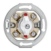 Interrupteur rotatif va et vient bakelite blanche pour cache en verre (100667)