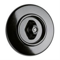 Interrupteur rotatif va et vient bakelite noire (186883)
