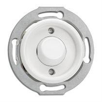 Interrupteur sans symbole bakelite blanche pour cache en verre (100677)