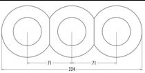 Interrupteur sans symbole bakelite noire (173054)