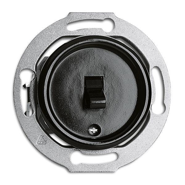 Interrupteur va-et-vient bakelite noire (173043)
