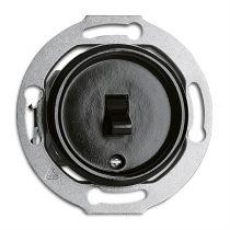 Interrupteur va-et-vient bakelite noire pour cache en verre (100649)