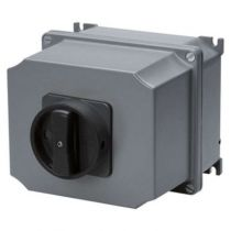 Interrupteurs rotatifs - boîtier métallique - en saillie - commande - poignée noire - 4p 32a - ip65