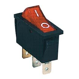 Intrupteur a bascule cordon de securite a lumiere rouge 1t 250v15a