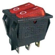 Intrupteur a bascule cordon de securite a lumiere rouge 2t 250v15a