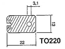 Isolant silicone calorifere pour to220 (S/TO220)