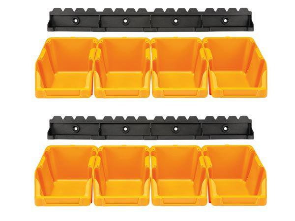 Jeu de bacs à bec - 8 pcs - 103 x 165 x 75 mm - jaune (OMSB10YSET)