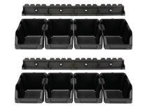 Jeu de bacs à bec - 8 pcs - 103 x 165 x 75 mm - noir (OMSB10SET)