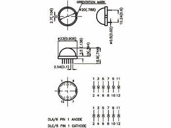 Jumbo led vert diff. 20mm - 34mcd (DLA-6SGD)