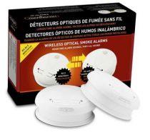 Kit de 2 détecteurs de fumée optique, communiquant et sans fils (Livré avec pile). Housegard