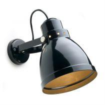lampe d\'atelier rétro métal nleu pigeon. E27 diam 15,5cm (182551)