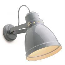 lampe d\'atelier rétro métal noire. E27 diam 15,5cm (182552)