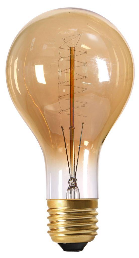De Haute Qualite Lampe Filament Métallique Spirale 240mm 40W E27 2000K 130Lm Ambrée (15977).  Loading Zoom