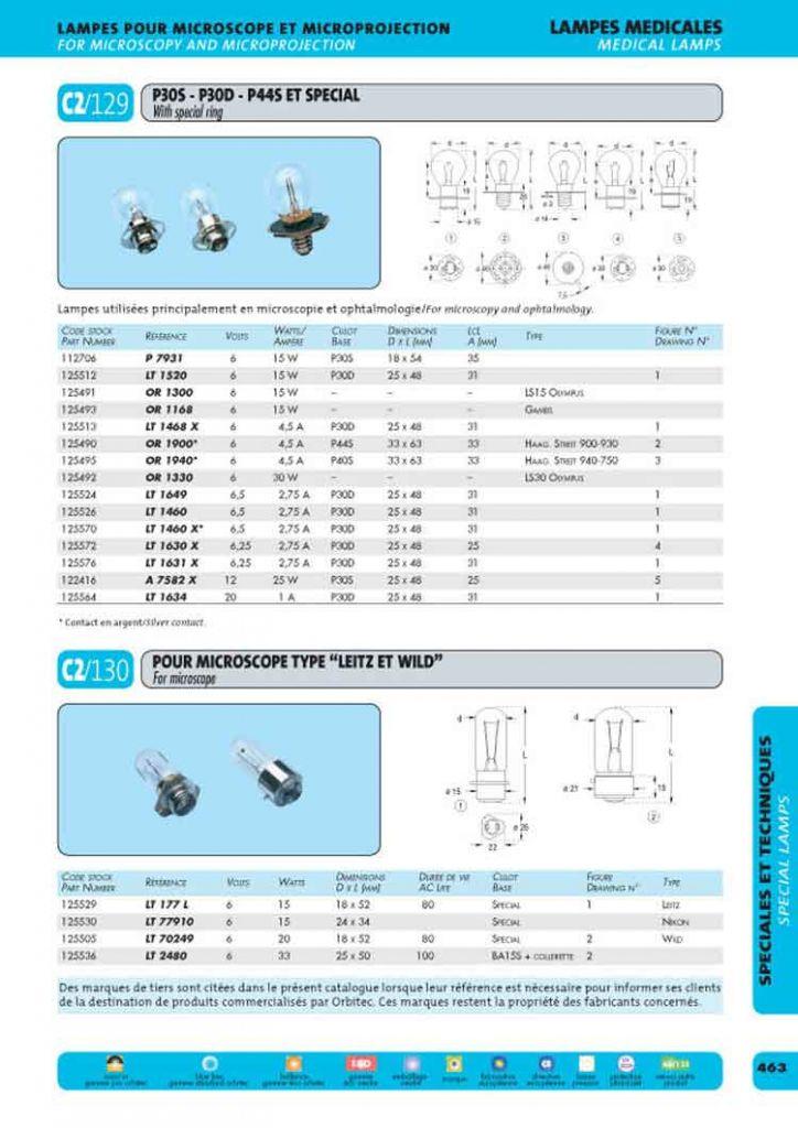 Lampe gambs 6v 15w