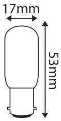 Lampe Tube pour réfrigérateur Incan. 15W BA15D 2750K 110Lm  (914330)