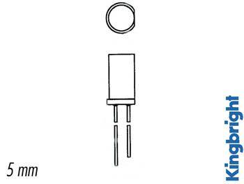 Led plate verte diffusante 5mm (L-483GDT)