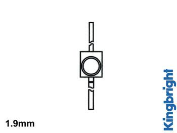 Led solid-state subminiature 1.9mm - rouge diffusant (KM-2520ID-01)