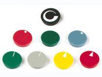 Lid for 15mm button (blue - white arrow rl) (DK15BWRL)