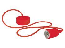 Luminaire design à suspension en cordage - rouge (LAMPH01R)
